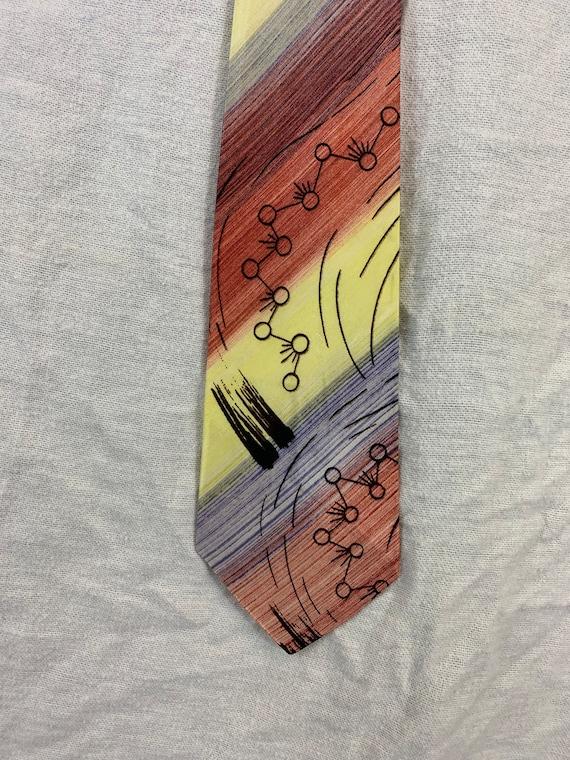 1940's Hand Painted Necktie