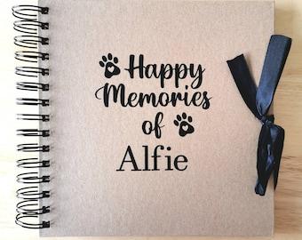 Pet Memorial Scrapbook, Personalised, Memories Album, Dog Memory Book, Pet lovers Gift