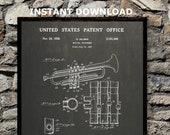 1939 Selmer Trumpet Digital Patent Print Instant Download Digital Printable Art Home Office Art Music Teacher Anniversary Gift Prints