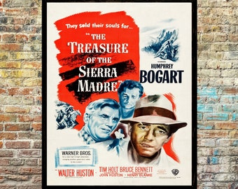 The treasure of the Sierra Madre Humphrey Bogart cult movie poster print