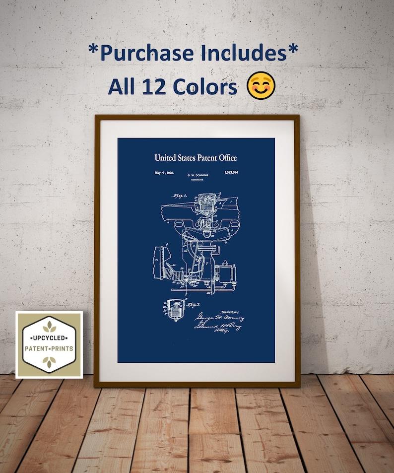 1926 Carburetor Patent Print Automotive Art Garage Decor Car Part Art Mechanic Gift Patent Print Download Digital Prints Car Blueprint Art