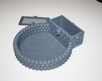 Dice Crypt Tomb Container With Lid for Dungeons /& Dragons 5e Pathfinder Warhammer 40k Zombicide and other Tabletop Games