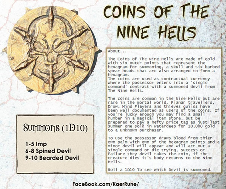 Contractual Coins of The Nine Hells