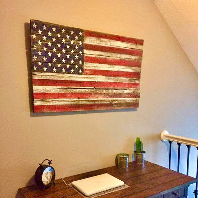 32c3a7e87601 Wood American Flag Wooden American Flag