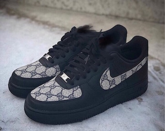 813a2fa6447d Custom Black Air Force 1 GG