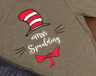 7a5649950b9 Cat in the Hat - teacher shirt
