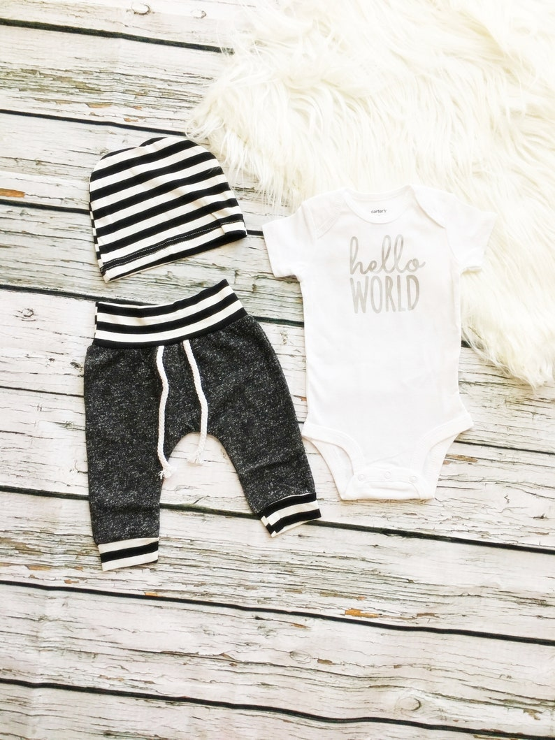 Ready to ship TODAY,Baby boy coming home,Going home,Take home,Newborn baby outfit,Boy clothes,Hello World outfit,Coming home,Newborn gift