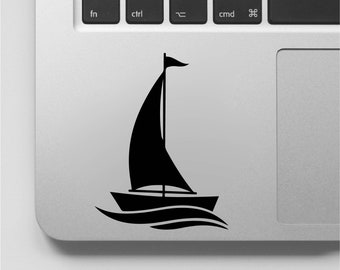 39baa30b0a1859 Sailboat Decal, Sailboat Silhouette Sticker, Free Shipping, Laptop Sticker  Laptop Decal Macbook Decal Car Decal, Vinyl Decal
