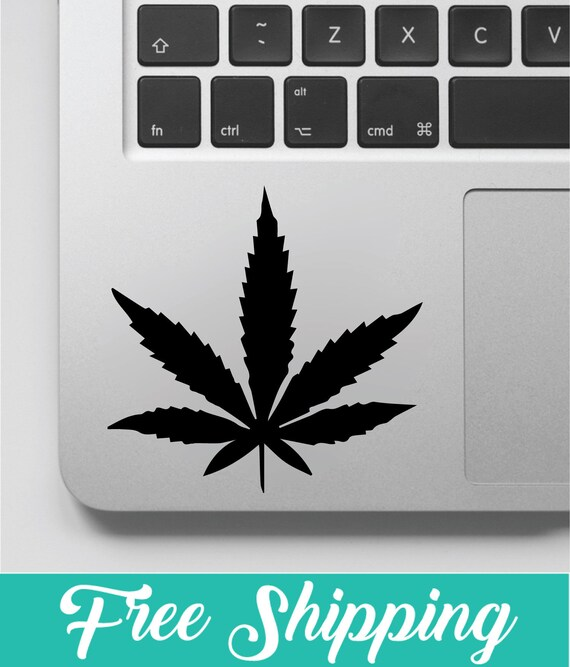Weed Leaf Decal Free Shipping Marijuana Decal Weed Sticker Etsy