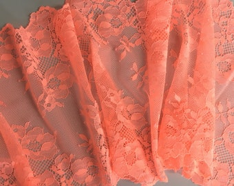 Stretch Lace ~ Neon Coral ~ for bra and underwear making 44966897e