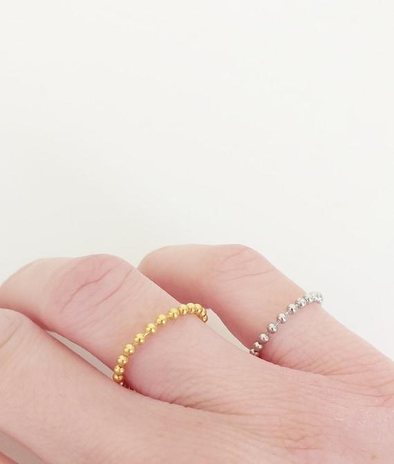 Anillo flexible de acero/acero dorado