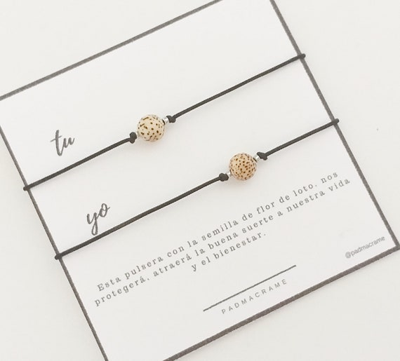 Pack pulseras para 2: semilla flor de loto
