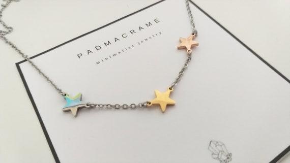 """Collar de acero """"estrellas"""""""