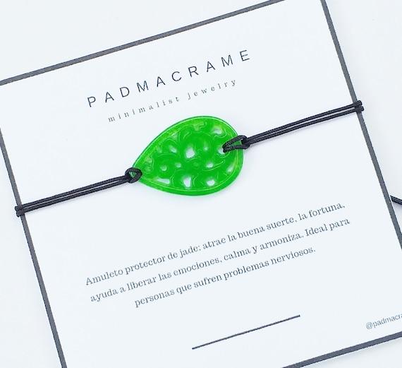 Pulsera hoja de jade protector