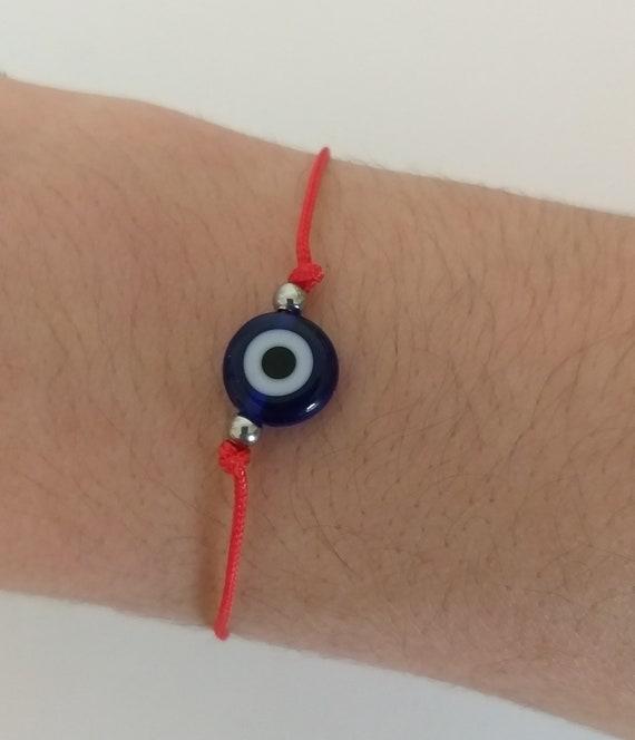 Pulsera ojo protector hilo rojo