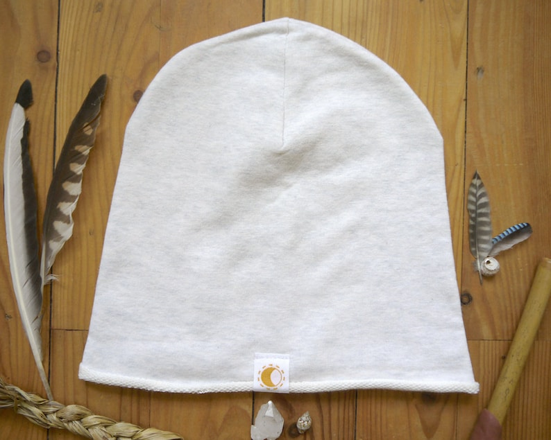 BIO-white Moondance cap/hood/beanie with moon design image 0