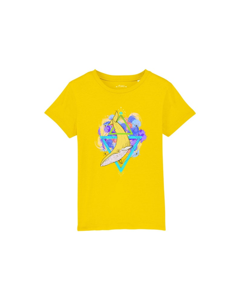 Kids Organic T-Shirt with Beautiful Whale Print image 0