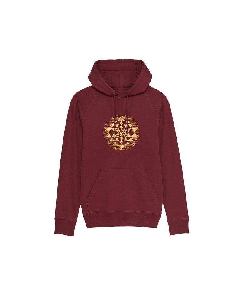 Men's Organic Hoodie with Sri Yantra Print image 0