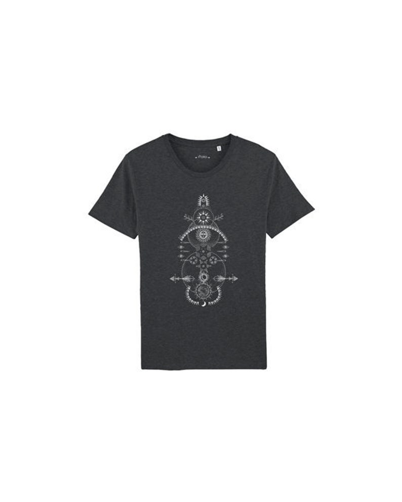 Organic Men's T-Shirt with Cosmic Print image 0