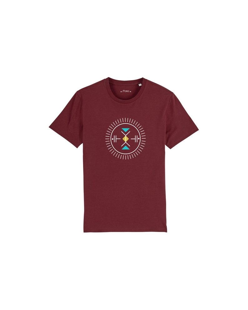 ready to ship men's bio T-shirt ITORO  burgundy image 0