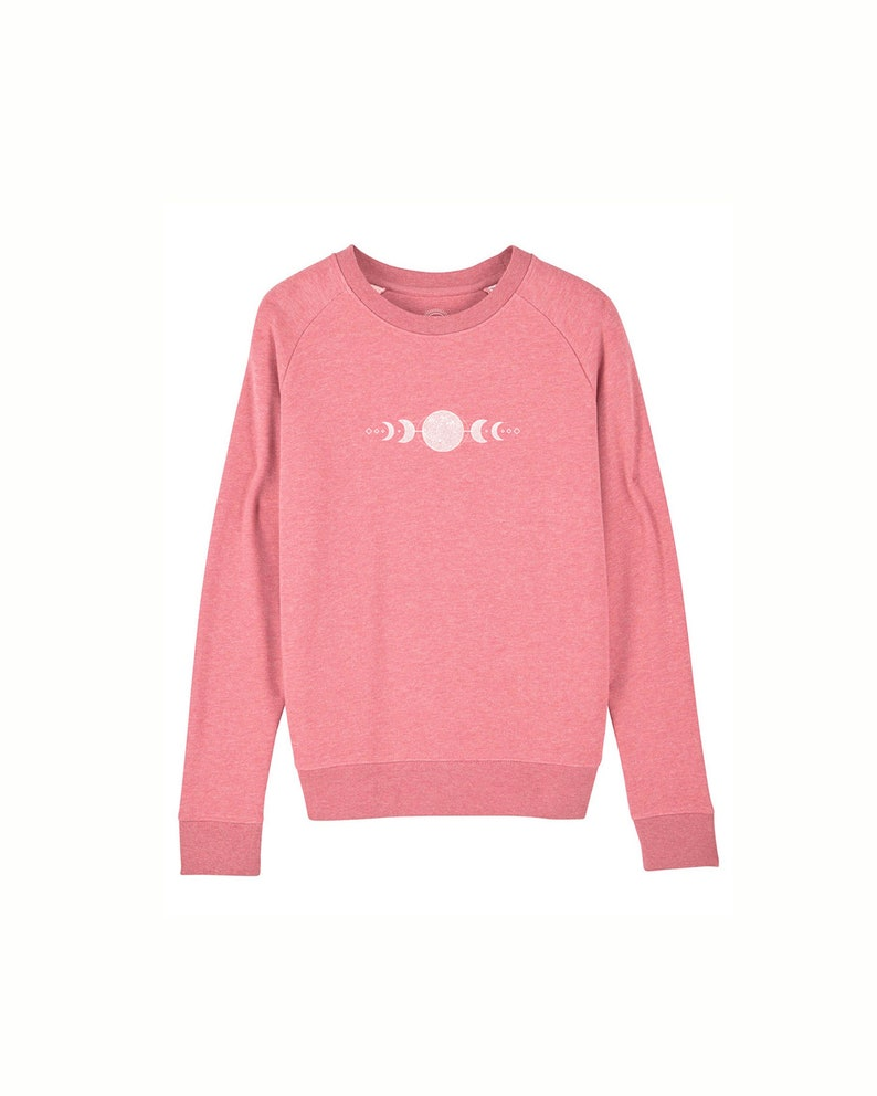 high quality organic women's sweater with moon print image 0