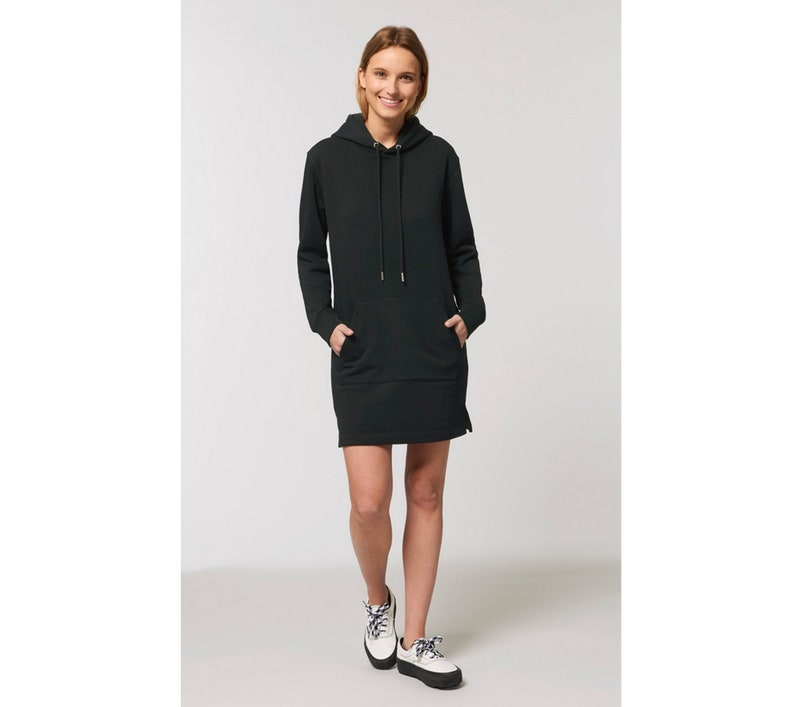 organic sweater dress Black