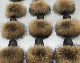 Raccoon slippers   Etsy