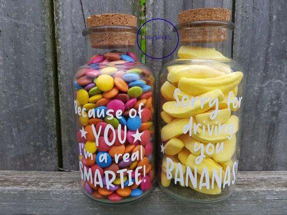 Teacher Lolly Jar Gift DECAL ONLY Thanks for Making Me a Smartie 6cm x 6cm
