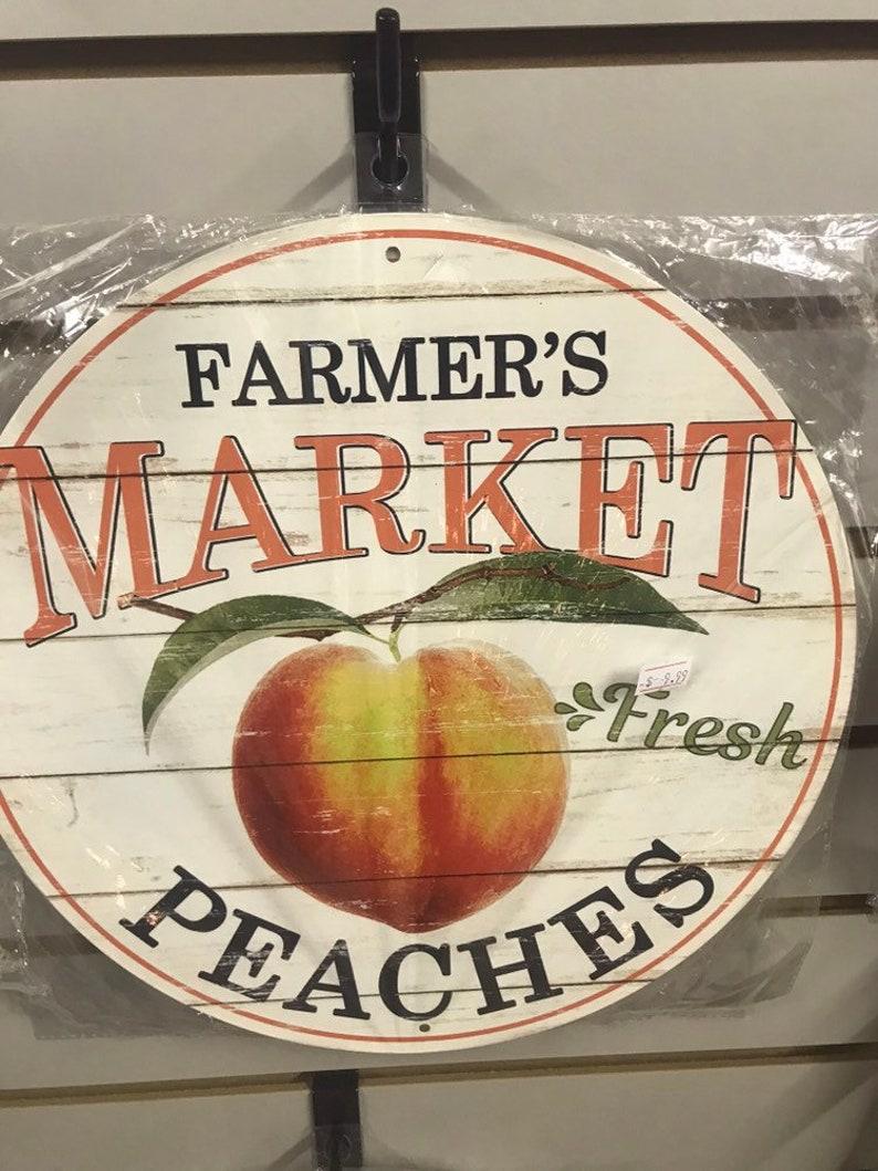 Gift Idea Farmers Market Peaches Sign Peaches Sign Farm image 0