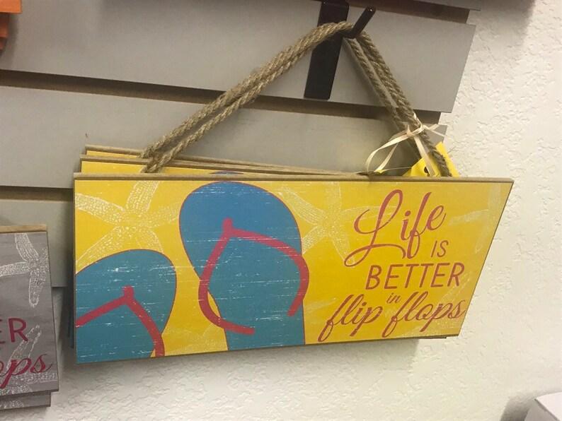 Life's Better in Flip Flops Sign Flip flop Sign Flip image 0