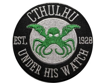 Cthulhu (Under his watch) iron on patch