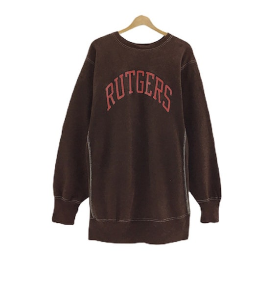 Rare!!! Vintage Champion Rutgers Crewneck Big Logo