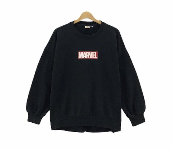 Rare!!! Marvel Medium Box Logo Print Spellout Crew