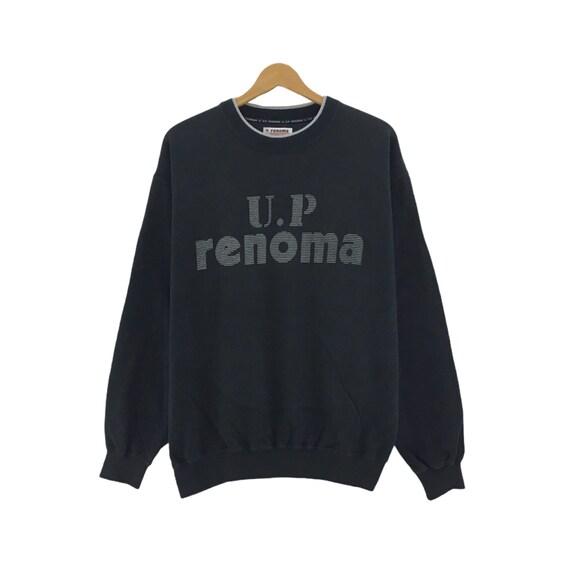 UP RENOMA Uniforme Prestige Jacket Full  Zipper  Black Colour Fashion Designer Utility Streetwear Fashion Rare!!