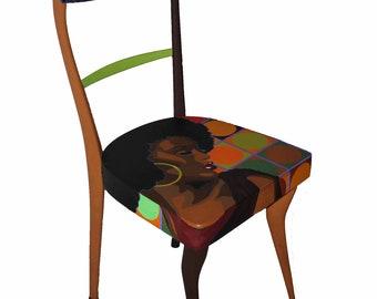 Sedie Dipinte A Mano : Sedie di pop art etsy