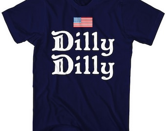 390d853c6 Mixtbrand Dilly Dilly 4th Of July American Flag Men's T-Shirt