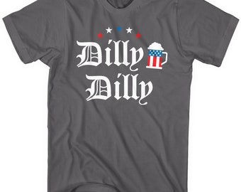 b9e4bb346 Mixtbrand Dilly Dilly 4th Of July Beer Men's T-Shirt