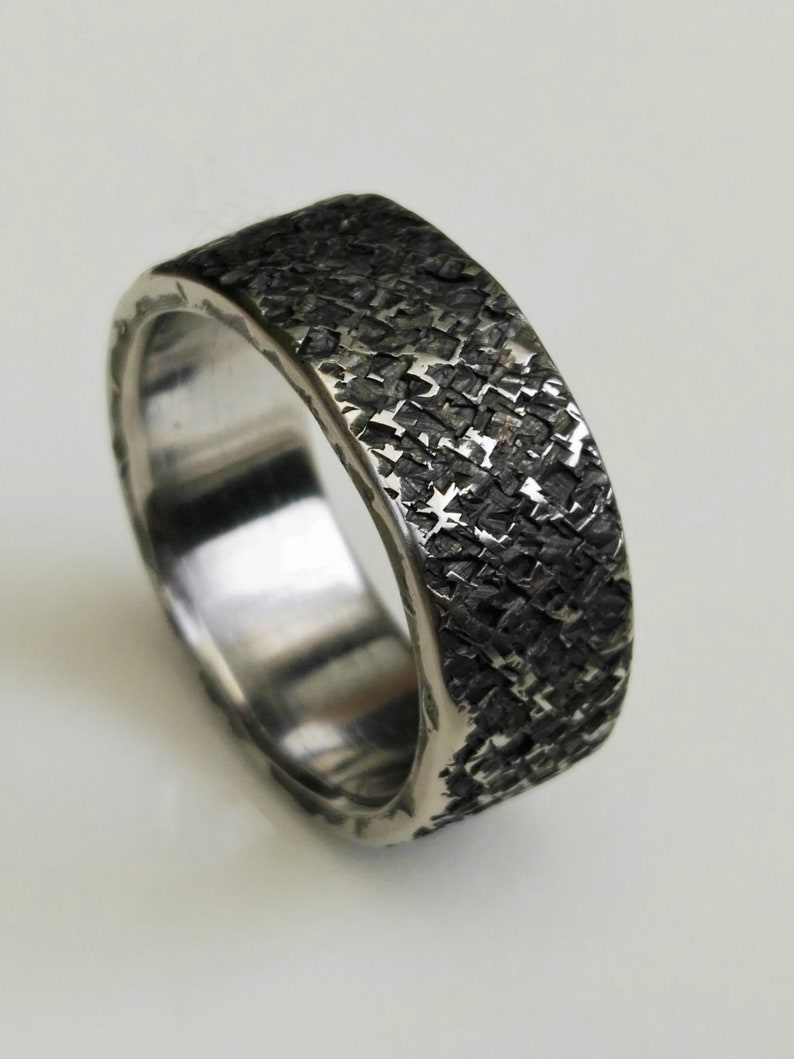 Hammered stainless steel ring Wedding ring Rustic ring,Minimalist ring Textured stainless steel ring