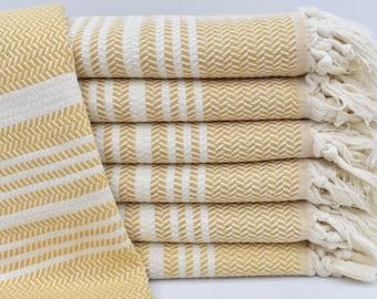 Hand Towel, 40x20, KitchenTowel, Tea Towel, Yellow Towel, Turkish Towel, Dish Towel, Bath Towel, Small Towel,Wedding Towel Osm-Hasr-Pskr_025