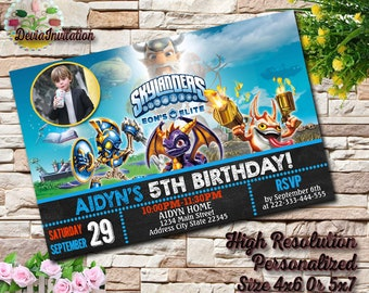 Skylanders Birthday InvitationSkylanders Invite CardSkylanders PartySkylanders Invitation With Photo