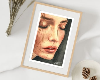 Face of Romantic Woman | Digital files | Digital File | limited edition