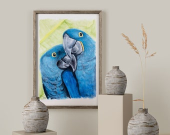 Pair of parrots | Digital files | Digital File | limited edition