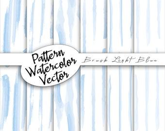 Vector celestial brushstroke pattern | Watercolor digital cards, paper pack doodles, scrapbooking, commercial use, vector