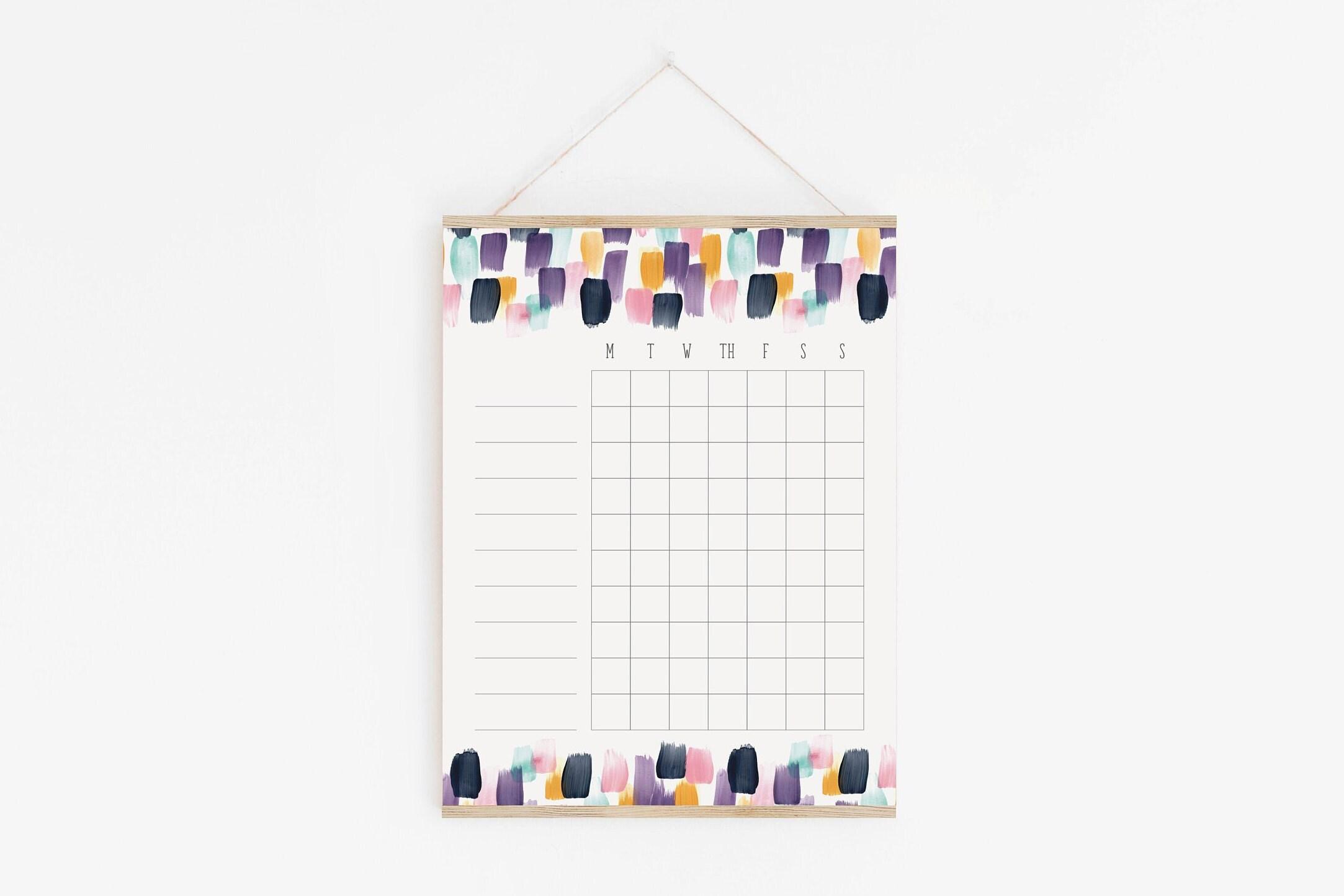 Chore Chart, Abstract Design, Minimalist Design, Blank Chore Chart, Check  List, Goal Tracker, Goal Setting, Weekly Tracker, Goal Chart