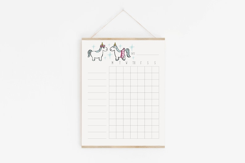 photo relating to Blank Chore Charts Printable titled Lady Chore Chart, Unicorn, Blank Chore Chart, Test Checklist, Intent Tracker, Function Environment, Weekly Tracker, Intent Chart