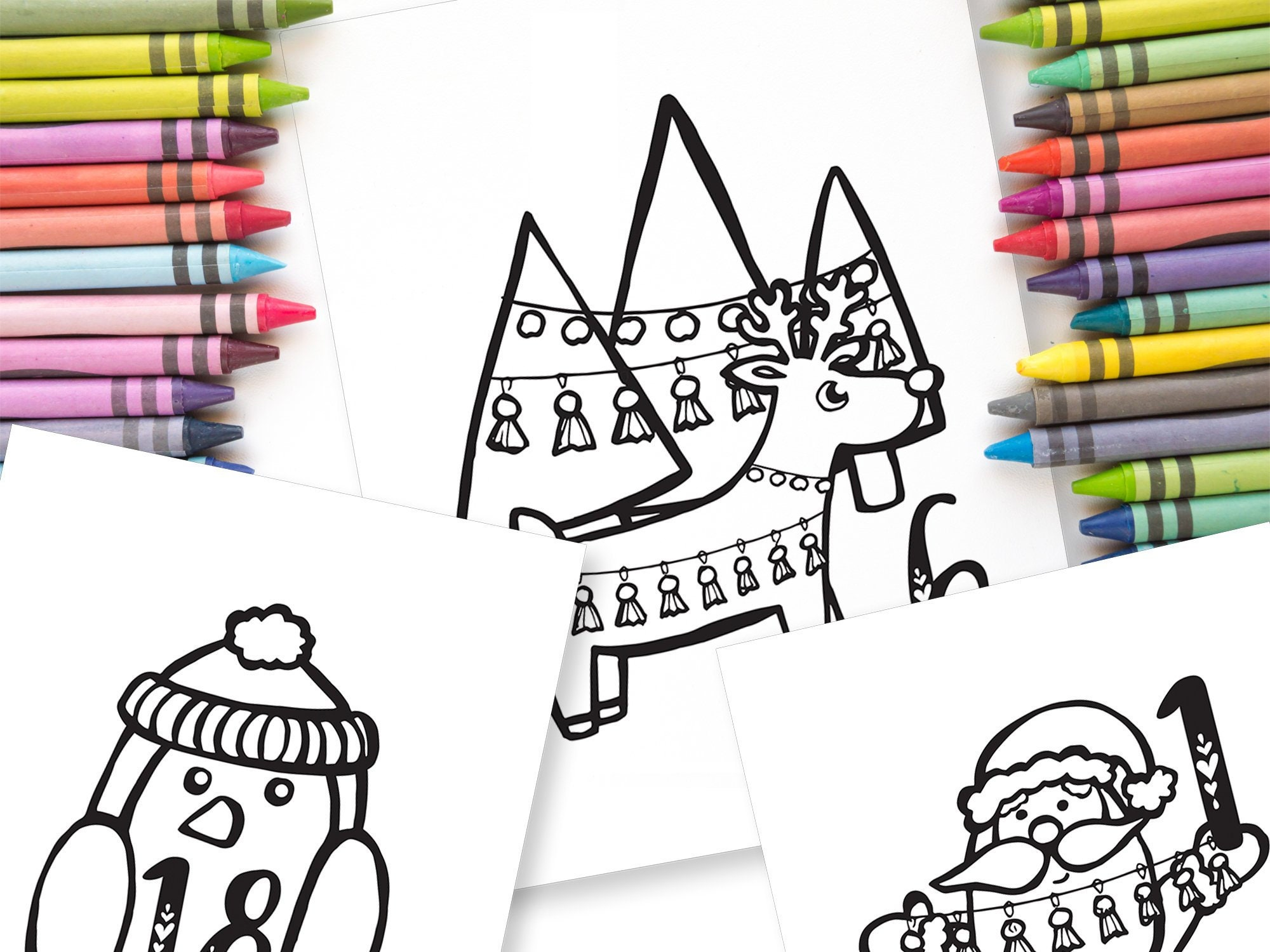 Christmas colouring in pages | Beanstalk Mums