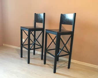 Enjoyable Vintage Industrial Bar Stools Retro Style Chair Breakfast Etsy Caraccident5 Cool Chair Designs And Ideas Caraccident5Info