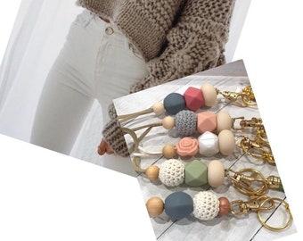 lanyard necklace, lanyard keychain, lanyards, Beaded lanyard necklace, tassel can be removed. Breakaway lanyard