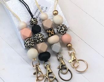 Teacher Gifts 2 in 1 Lanyard Badge Reel LY11143 Id Badge Lanyard Id Beaded Lanyard