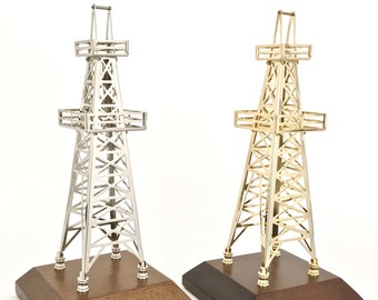 Oilfield Gift Derrick Drill Rig Model Award Trophy Office Decoration Oil  And Gas Roughneck Gift Gold